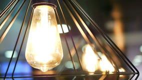 Luz bonita das lâmpadas video estoque