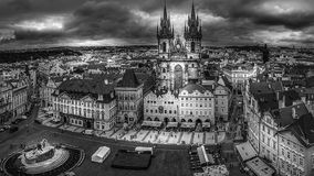 Luz bonita em Praga Fotografia de Stock Royalty Free