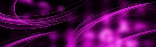 Luz borrada brilhante roxa Convite e cartões Ilustração panorâmico festiva abstrata Copie o espaço ilustração royalty free