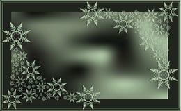 Luz borrada do fundo da foto da neve do tema do inverno quadro abstrato - ilustração verde do vetor do papel de parede ilustração stock