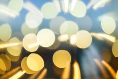 Luz borrosa en la ciudad Foto de archivo