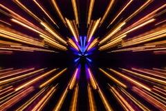 Luz borrosa en la ciudad Imagen de archivo