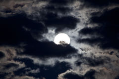 Luz brillante de la luna Imagen de archivo libre de regalías