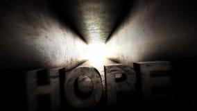 Luz brillante en el final del Hay siempre esperanza stock de ilustración