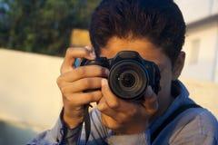 Luz - cámara - acción Fotografía de archivo