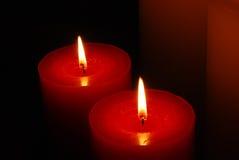 Luz caliente de la vela Fotos de archivo