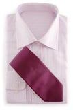 Luz - camisa e laço violetas imagem de stock