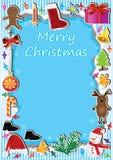 Luz Card_eps del marco de la Navidad Fotos de archivo libres de regalías