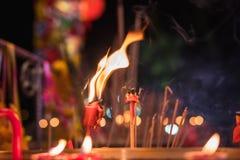 Luz china de la vela Fotografía de archivo libre de regalías