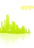 Luz - cidade verde Foto de Stock Royalty Free