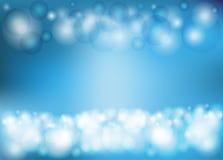 Luz circular - fundo azul Fotos de Stock Royalty Free