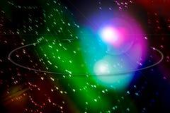 Luz coloreada del corazón imagen de archivo libre de regalías