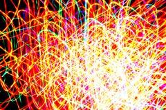 Luz colorida da soldadura do fundo faíscas abstratas imagens de stock