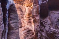 Luz colorida del barranco de la ranura Imagen de archivo libre de regalías