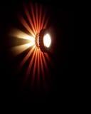 Luz con diseño en la oscuridad Imagen de archivo libre de regalías