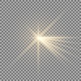 Luz con un resplandor Imagen de archivo libre de regalías