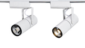 Luz conduzida do ponto ou de trilha do diodo emissor de luz luz Fotos de Stock