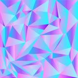 Luz - cor-de-rosa, vetor azul que brilha o contexto triangular Uma ilustração de cor completamente nova em um estilo poligonal Um ilustração royalty free