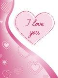 Luz - corações cor-de-rosa ilustração stock