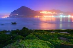 Luz corta cerca del puerto pesquero de Keelung Imágenes de archivo libres de regalías
