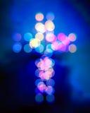 Luz cruzada cristiana del bokeh ilustración del vector