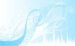 Luz - curvas azuis Imagens de Stock Royalty Free