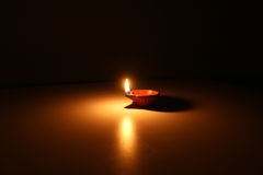 Luz da argila da terracota Imagem de Stock Royalty Free