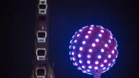 Luz da bola do disco com cor azul fotos de stock royalty free