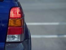 Luz da cauda de SUV Fotografia de Stock