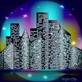 Luz da cidade da noite Imagens de Stock Royalty Free