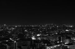 Luz da cidade na cidade de Pattaya Fotografia de Stock Royalty Free
