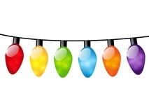 Luz da cor do Natal Fotografia de Stock