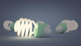 Luz da economia de energia Imagens de Stock