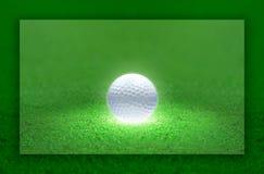 Luz da esfera de golfe Fotografia de Stock Royalty Free