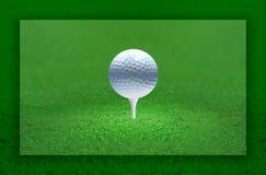Luz da esfera de golfe Fotos de Stock Royalty Free
