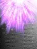 Luz da estrela com fundo dos raios Eps 10 Fotografia de Stock