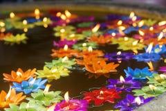 A luz da fé no budismo Imagem de Stock