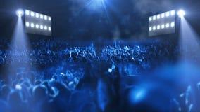 Luz da fase 3d do concerto