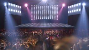 Luz da fase 3d do concerto da multidão ilustração royalty free