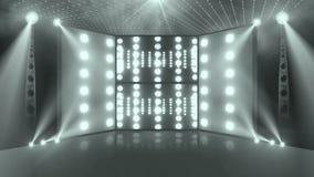 A luz da fase 3d do concerto da multidão grren ilustração stock