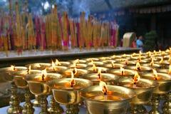 A luz da ghee, pray para a felicidade Foto de Stock Royalty Free