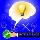 A luz da inteligência representa a capacidade intelectual 3d Illustrat ilustração do vetor