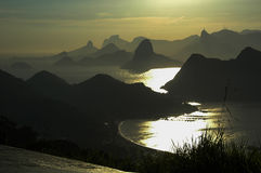 Luz da manhã em Rio de Janiero Imagens de Stock