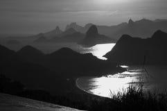 Luz da manhã em Rio de Janiero Fotos de Stock