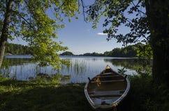 Luz da manhã em uma canoa Imagem de Stock Royalty Free