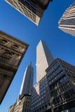 Luz da manhã no Empire State Building e em outros arranha-céus na 5a avenida, Midtown Manhattan, New York City Imagens de Stock Royalty Free