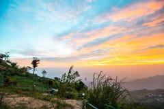 Luz da manhã no monte 10 Fotos de Stock Royalty Free