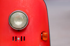 Luz da motocicleta do estilo do vintage Fotografia de Stock