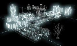 Luz da noite na cidade 3 ilustração stock