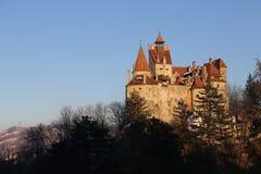 Luz da tarde do castelo do farelo foto de stock